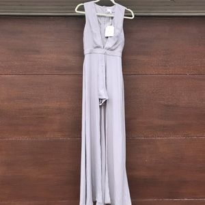 NWT Missguided long dress/romper. Lilac size 4